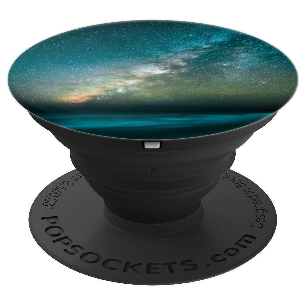 Milky Way Stars Over The Waves On The Beach - PopSockets Grip and Stand for Phones and Tablets