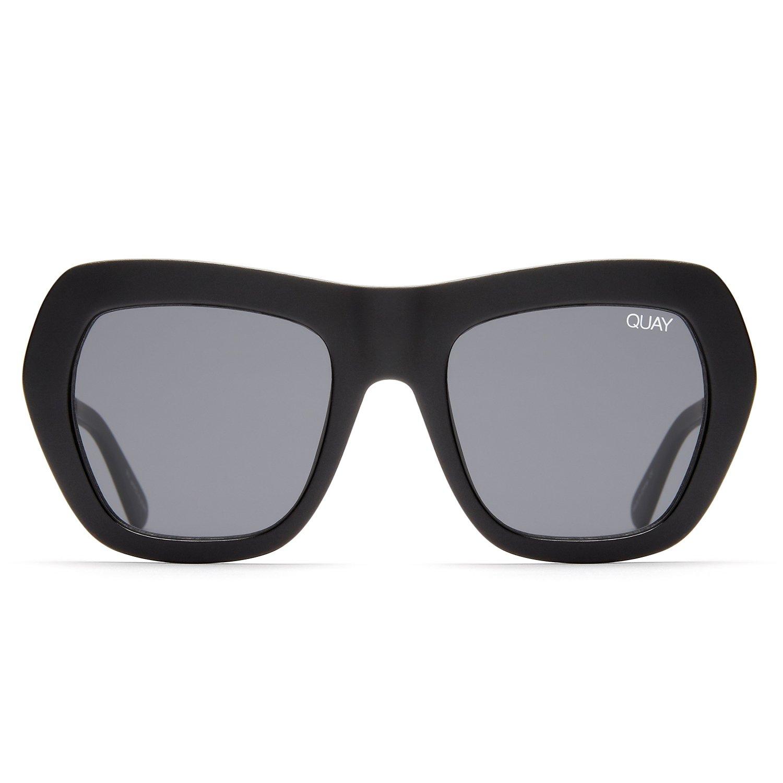 Quay Australia COMMON LOVE Women's Sunglasses Geometric Cat Eye Sunnies - Black