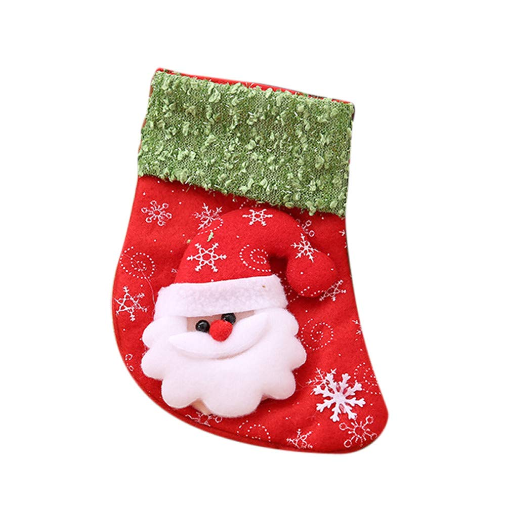 NEARTIME Christmas Santa Claus Stocking Candy Gift Bag Xmas Tree Hanging Ornament Decor Santa Claus