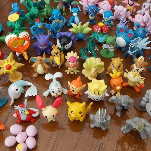 Wholesale Mixed Lots 24pcs Pokemon Mini Random Pearl Figures New Hot Kids Toy