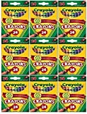 Crayola 24 Count Box of Crayons Non-Toxic Color Coloring School Supplies (9 Packs)