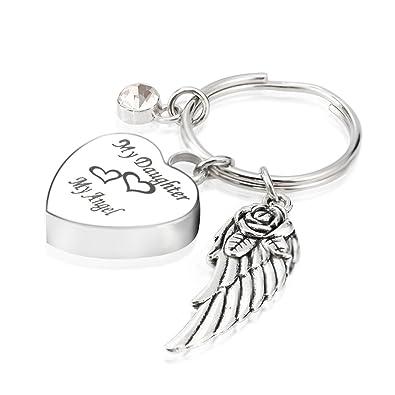 Amazon.com: Mi hija mi ángel joyería de cremación urna ...