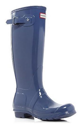 Original Tall Gloss Wellies Mineral Blue Rubber Womens Rain Boots