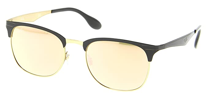 f5dd7b36c9 Image Unavailable. Image not available for. Color  Ray-Ban RB3538 Sunglasses  Shiny Black Gold w Pink Mirror (187