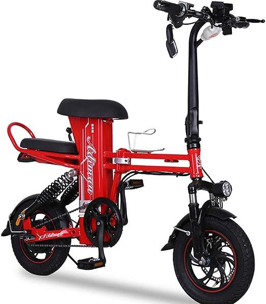 FJW Unisexo Bicicleta electrica, 12 Pulgadas Híbrido Bicicleta ...