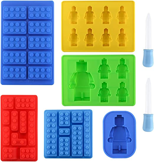 Block Bricks Silicone Ice Mold Tray FOR Party Candy Chocolate Cupcake  NEW