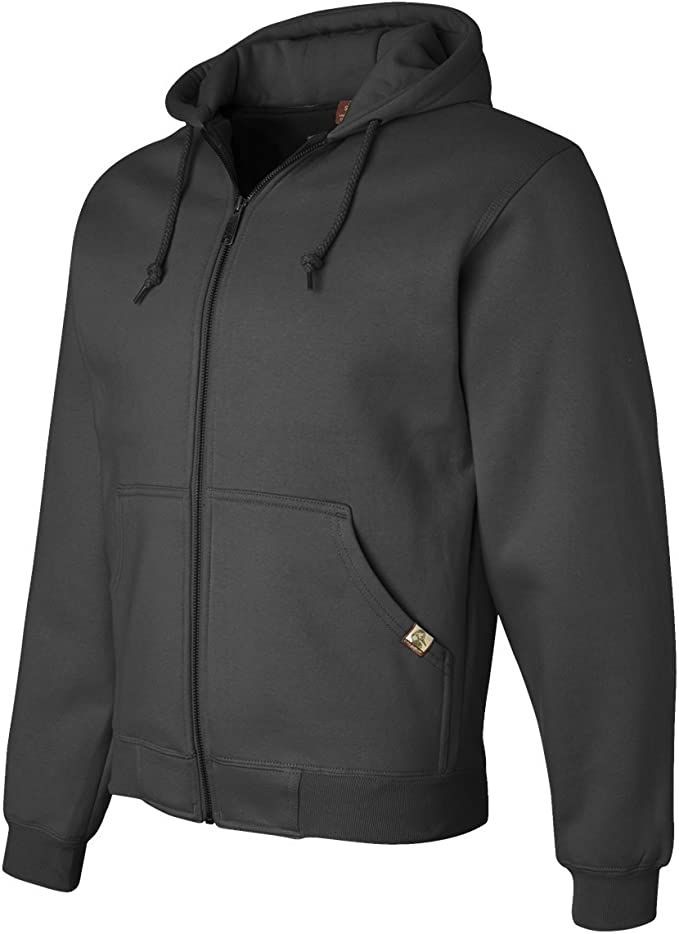 DRI Duck Men's 7033 / 7033T Crossfire Heavyweight Power Fleece Zip-Up Jacket Thermal Lining Hooded Sweatshirt