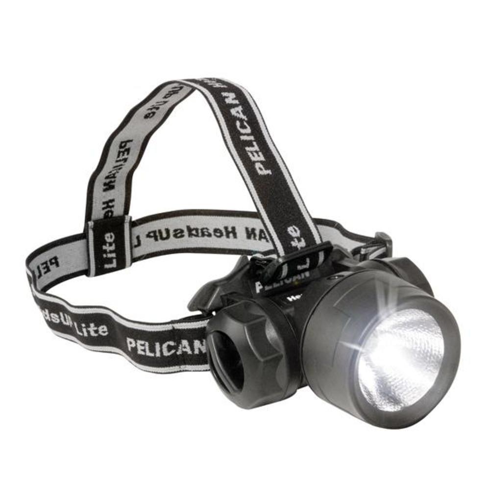 Pelican 2600 C Heads Up Lite – Taschenlampe (Taschenlampe mit Band für Kopf, Schwarz, 18 LM, 27 m, AA)