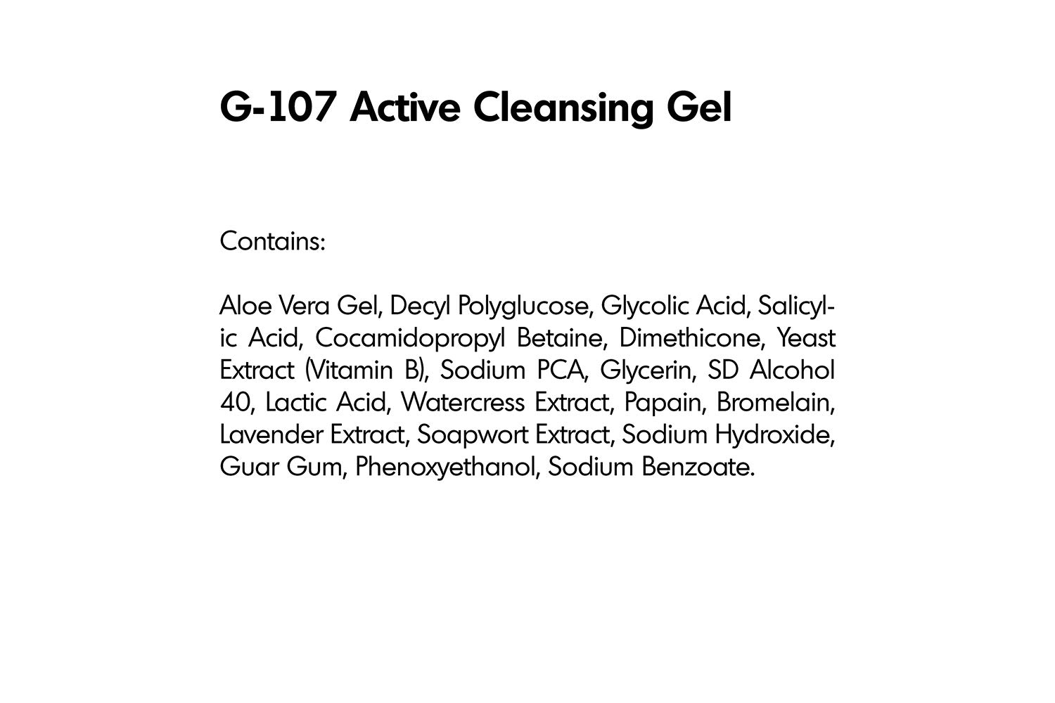 Amazon.com: Cleansing Gel Activo con Aha y BHA (g-107 ...