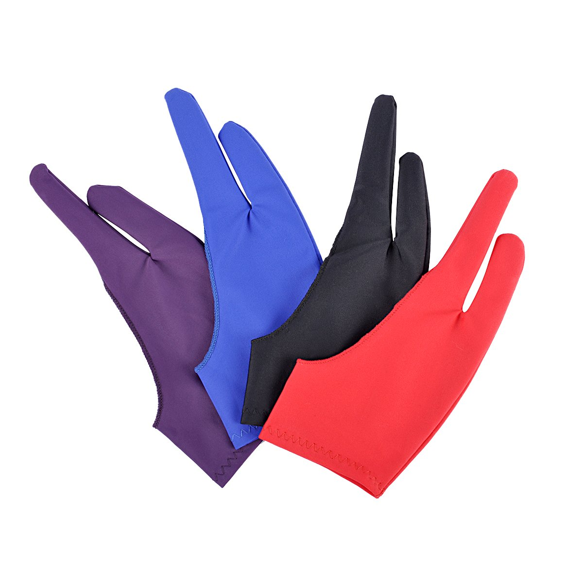 Handschuhe Artist Glove f/ür Graphic Tablet Art Creation Pen Display und iPad Pro Bleistift Blau, Rot, Schwarz, Lila ezakka Tablet Zeichnen Handschuh