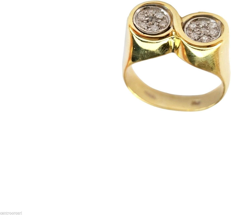 Anillo de Mujer de Oro Amarillo Para Hombre con 18kt 750 000/0,15 CT H-VS 6,90Gr Diamantes