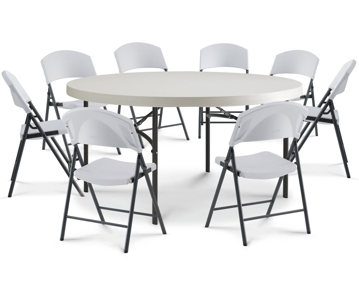 Amande Lifetime Table pliante 80121 152 cm rond Commercial ...