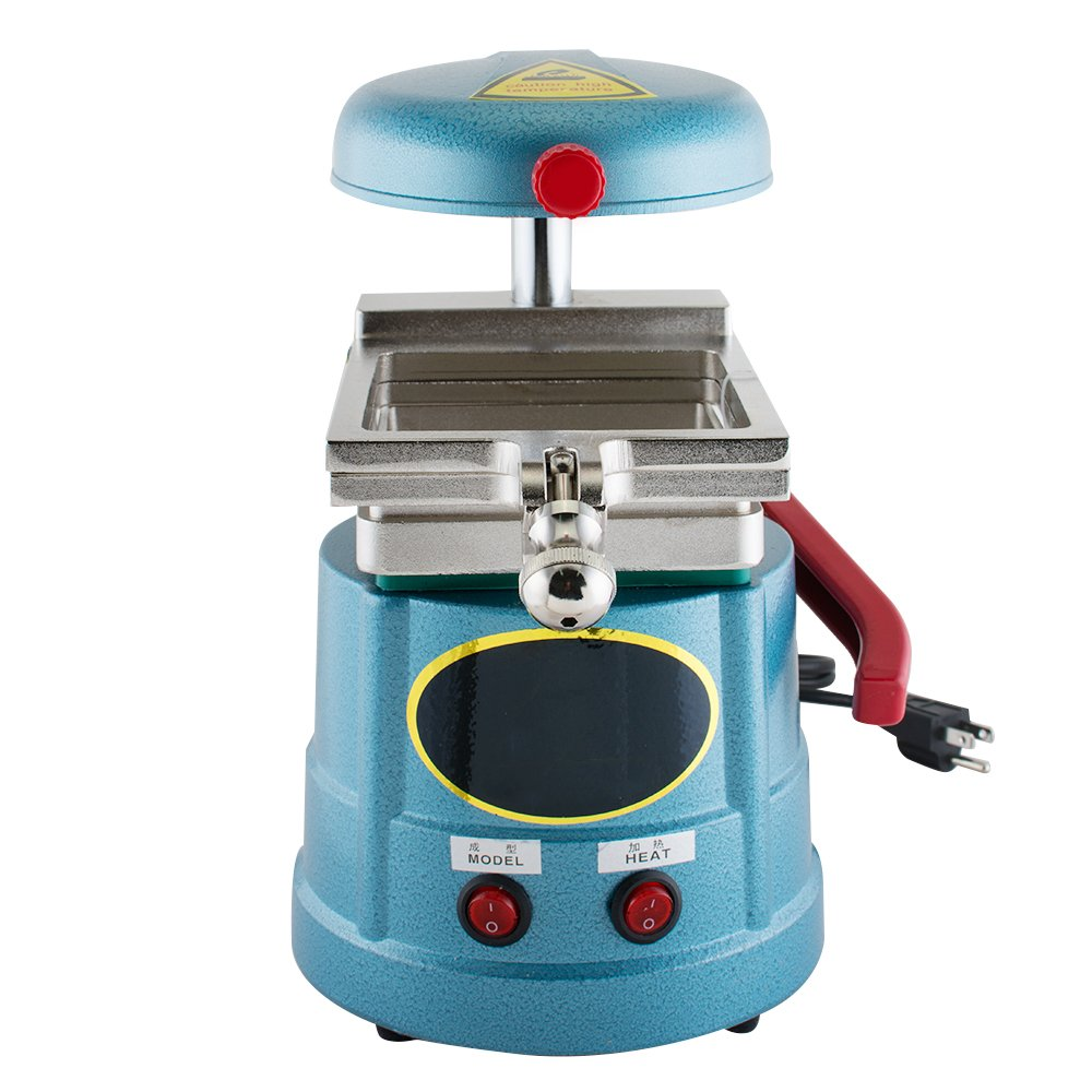 Enshey Dental Vacuum Forming Machine 1000W Power Former Heat Molding Tool w/ Steel Balls Lab Equipment Former Molder Compact Design for Lab Equipment Oral Care Products