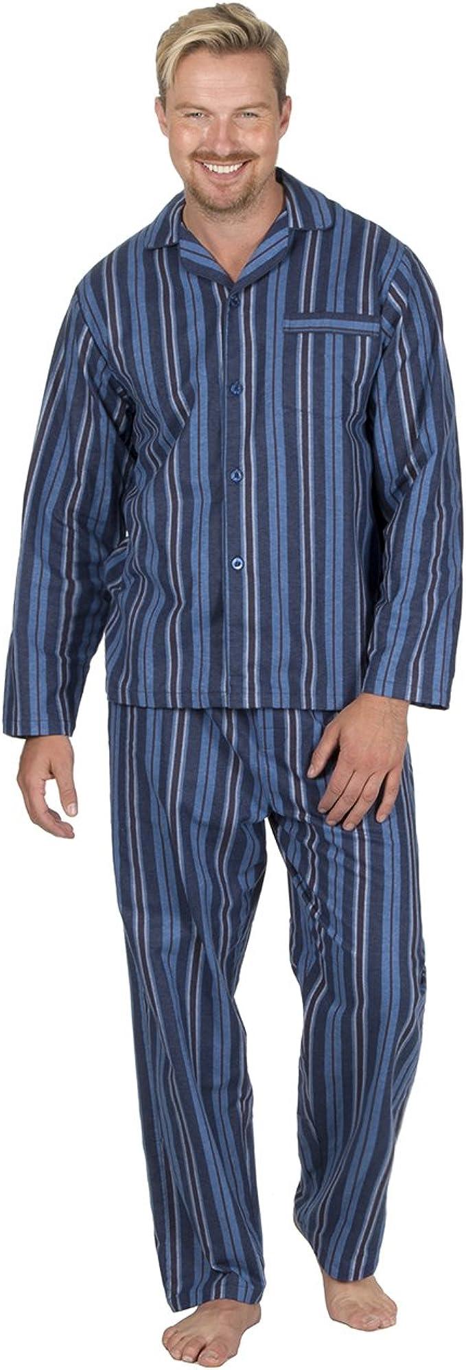 Insignia Hombre Reactivos Tentida Franela Pijama 100% Cotton