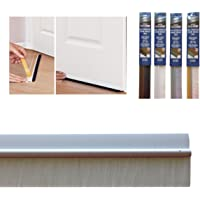 """Bottom Door Seal with Colour Matching Brush in Self Adhesive PVC, 860mm/34"""", White"""