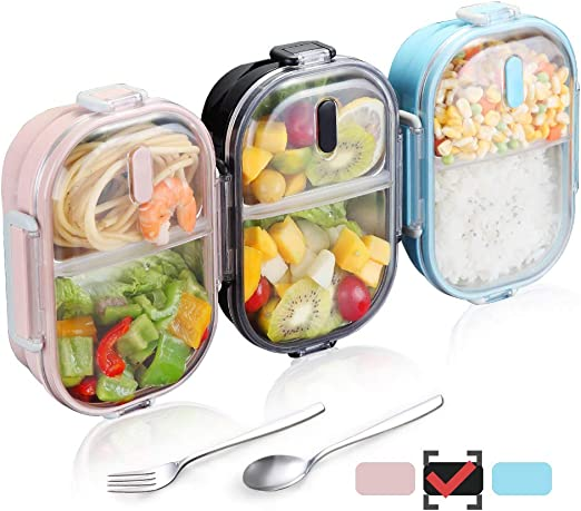 Square Portable Lunch Box For Kids School Food Container Leakproof Bento Box