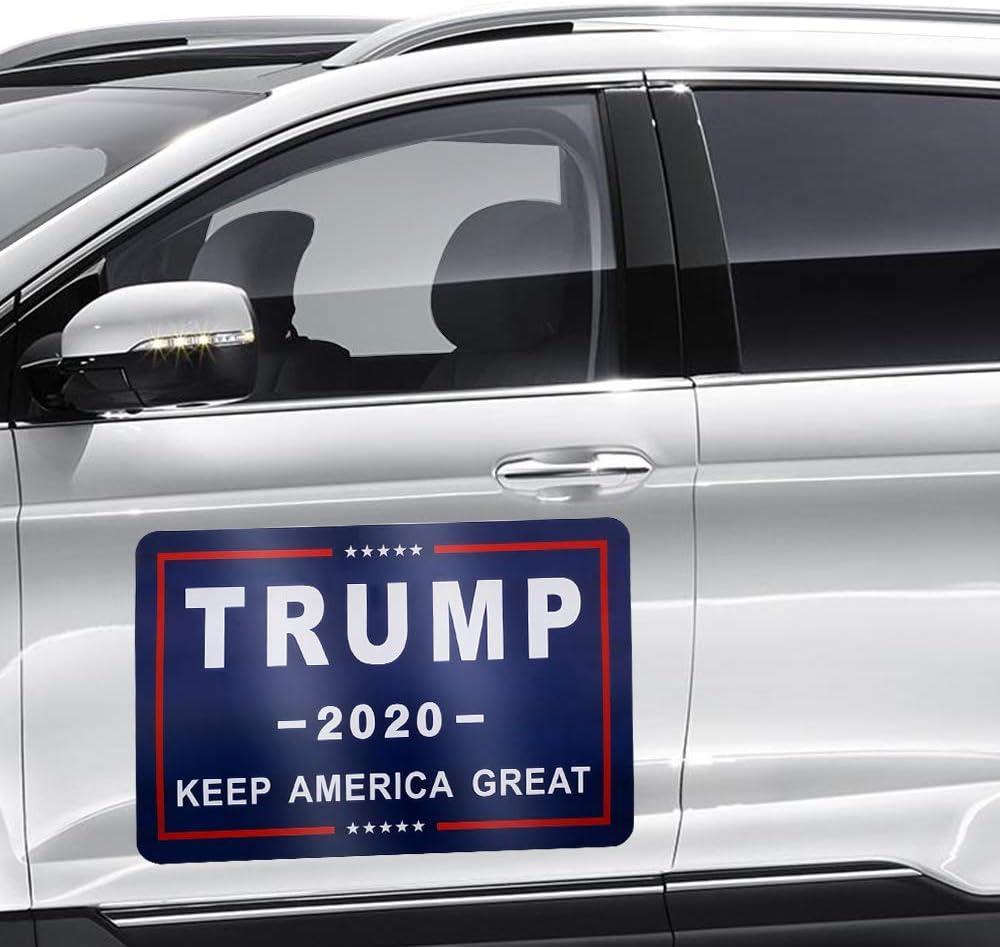 Donald Trump 2020 Car Magnet Bumper Sticker for 45th Presidential Election Day Celebration Parades Event (Blue Car Magnet)