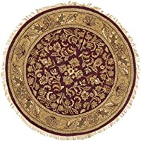 Safavieh Heritage Collection HG170A Handcrafted Traditional Oriental Red and Gold Premium Wool Round Area Rug (36 Diameter)