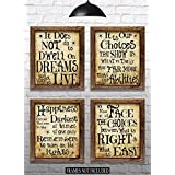 """Harry Potter Quotes & Sayings - Set of 4 - 8""""x10"""" Prints - Great Harry Potter Gifts (set #1)"""