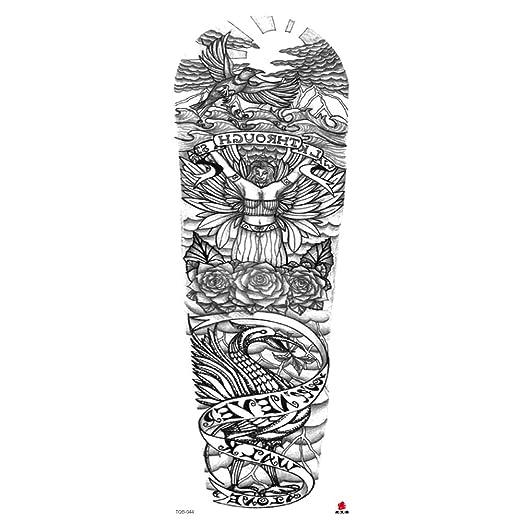 Handaxian Brazo Completo Tatuaje Impermeable Tatuaje Brazo 3 ...