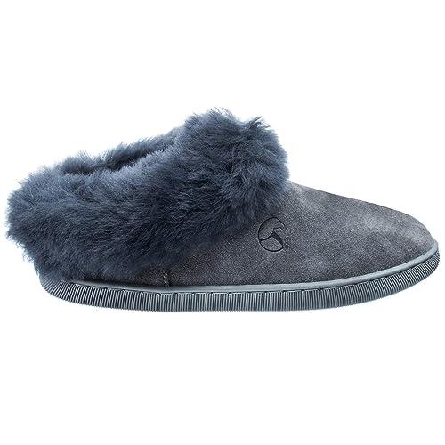 ESTRO Zapatillas Casa Mujer Invierno Piel De Carnero Lana Pantuflas Casa Mujer Piel Genuina AMIE: Amazon.es: Zapatos y complementos