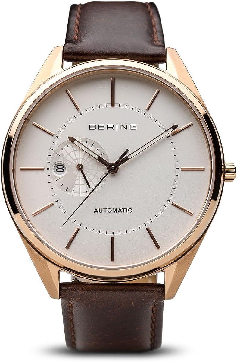 BERING Reloj Analogico para Hombre de Automático con Correa en Cuero 16243-564