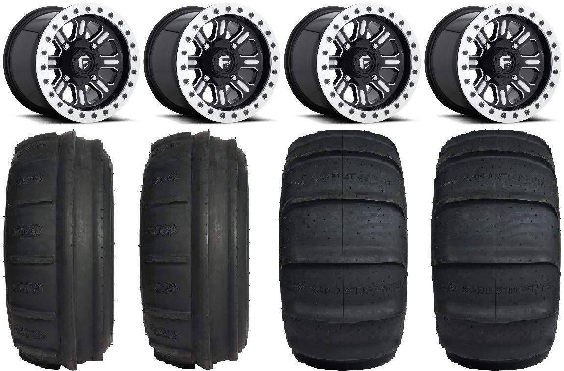9 Items Bundle Fuel Hardline Black 15 Wheels 32 Sand Stripper TT//XL Tires 4x156 Bolt Pattern 12mmx1.5 Lug Kit