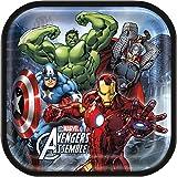 Square Marvel Avengers Dinner Plates, 8ct