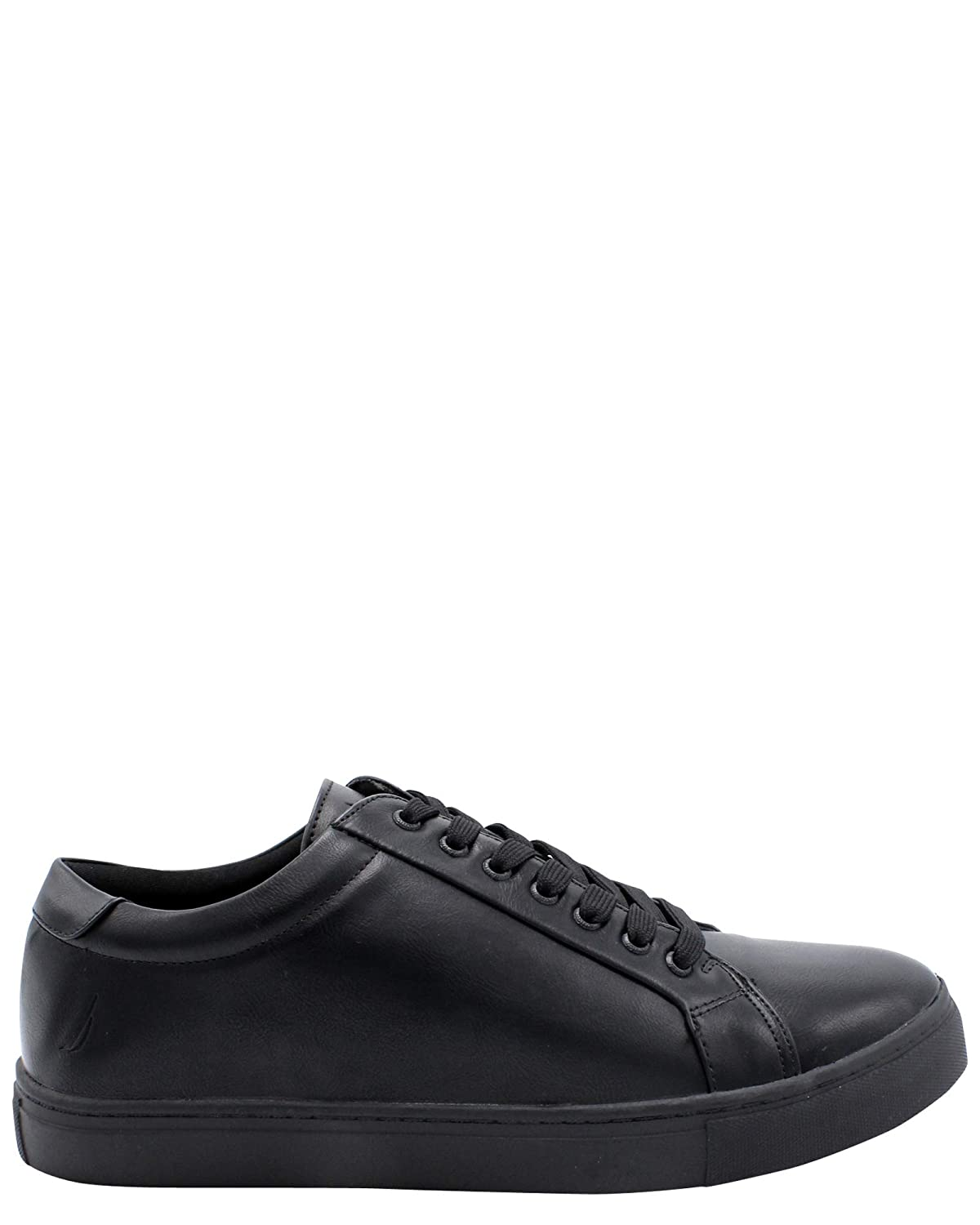 All-over Black Nautica Men's Casual Lace-Up Fashion Sneakers Oxford Comfortable Walking shoes