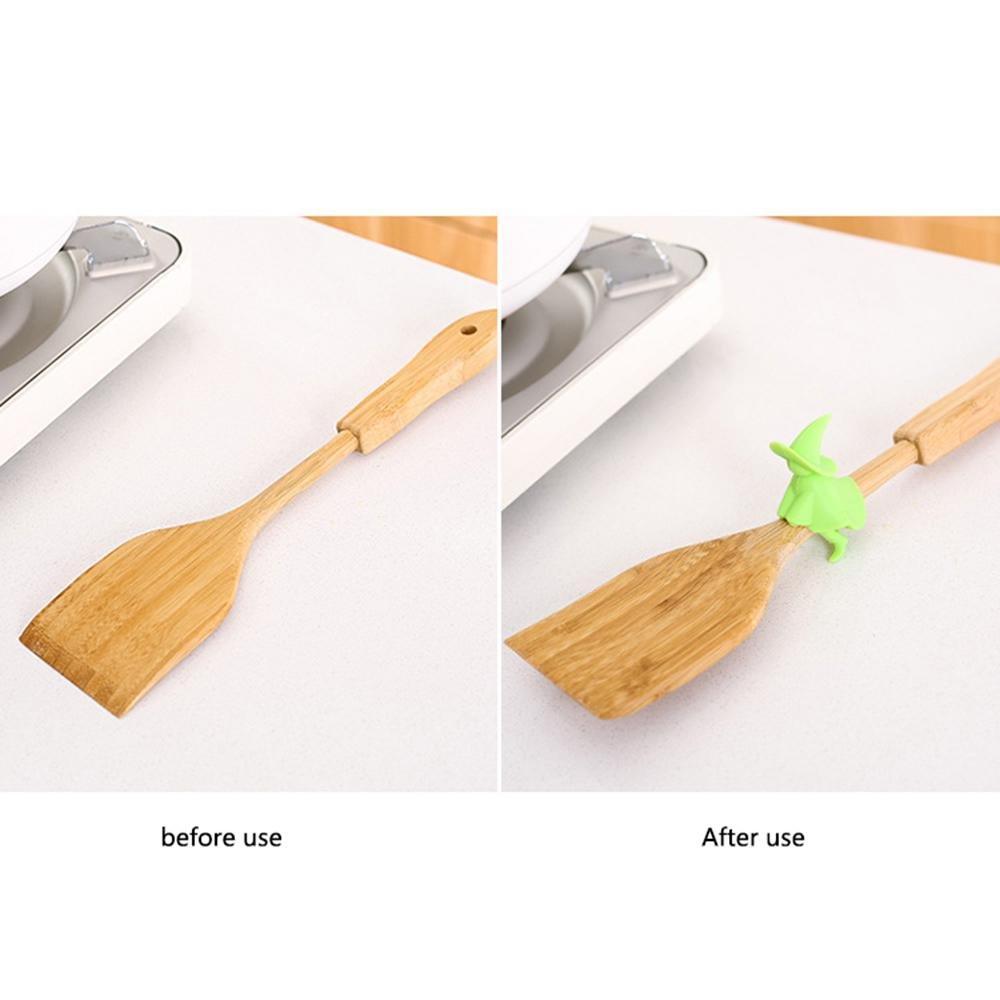 AOLVO Lid SID pot del silicone creativo cucina pot copertura supporto poggia cucchiaio anti overflow Spill Tool Heightening Spill tenere le coperture dei vostri pot Steam Vent