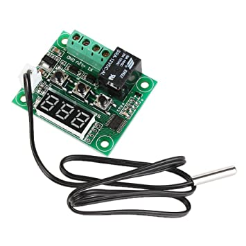 Tenflyer Enfriar Temperatura Termómetro Interruptor de control de la temperatura del termostato de calor: Amazon.es: Informática