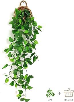 Planta Artificial Falso Colgante Flor Vid Decoración para Boda Interior Al Aire Libre Jardín hacer