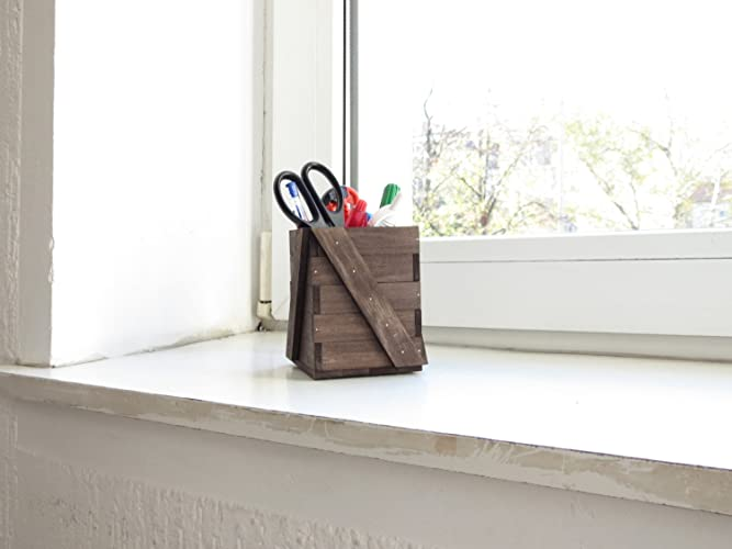 Katun IV, Organizer Simple Minimal Wood Home And Office Desk Pencil Holder  Box Pen Organizer