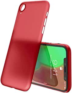 Semi-Flexible Plastic Slim Cover With Matte Red Color for iPhone XR