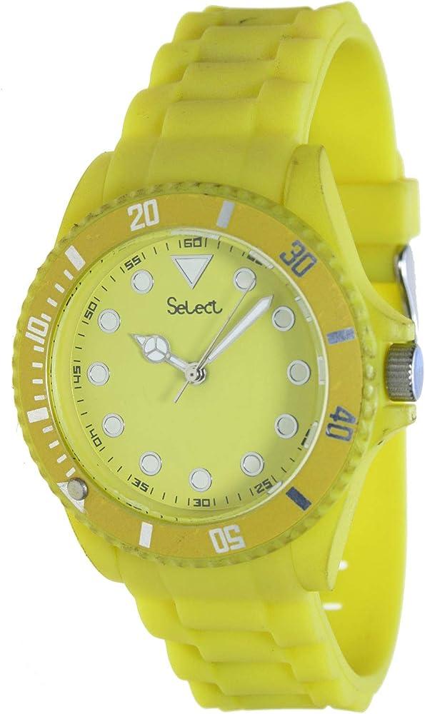 Select Lw-20-09 Reloj Analogico para Mujer Caja De Resina Esfera Color Amarillo: Amazon.es: Relojes
