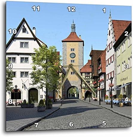 3dRose Bavarian Town Main Street Wall Clock