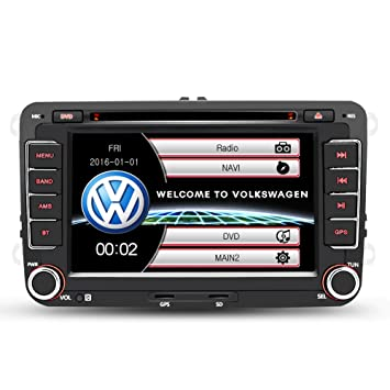 Autoradio 2 DIN 7 Pulgadas GPS Navegador Reproductor de DVD para Coche FM/AM/MP3/SD/USB Autoradio Bluetooth Soporta cámara de visión Trasera, actualización ...