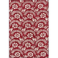 Momeni Rugs HAVANHV-10RED2030 Havana Collection Hand Tufted Contemporary Area Rug, 2 x 3, Red