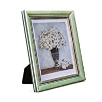 European High-end Stereo Photo Frame Studio Solid Wood Photo Wall Hanging Photo Frame Set Light Green (Living Room, Bedroom) (Size : 232 * 181 * 24mm)