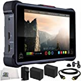 "Atomos Ninja Inferno 7"" 4K HDMI Recording Monitor 6PC Bundle – Includes 2x Replacement Batteries + AC/DC Rapid Home & Travel Charger + HDMI Cable + Microfiber Cleaning Cloth"