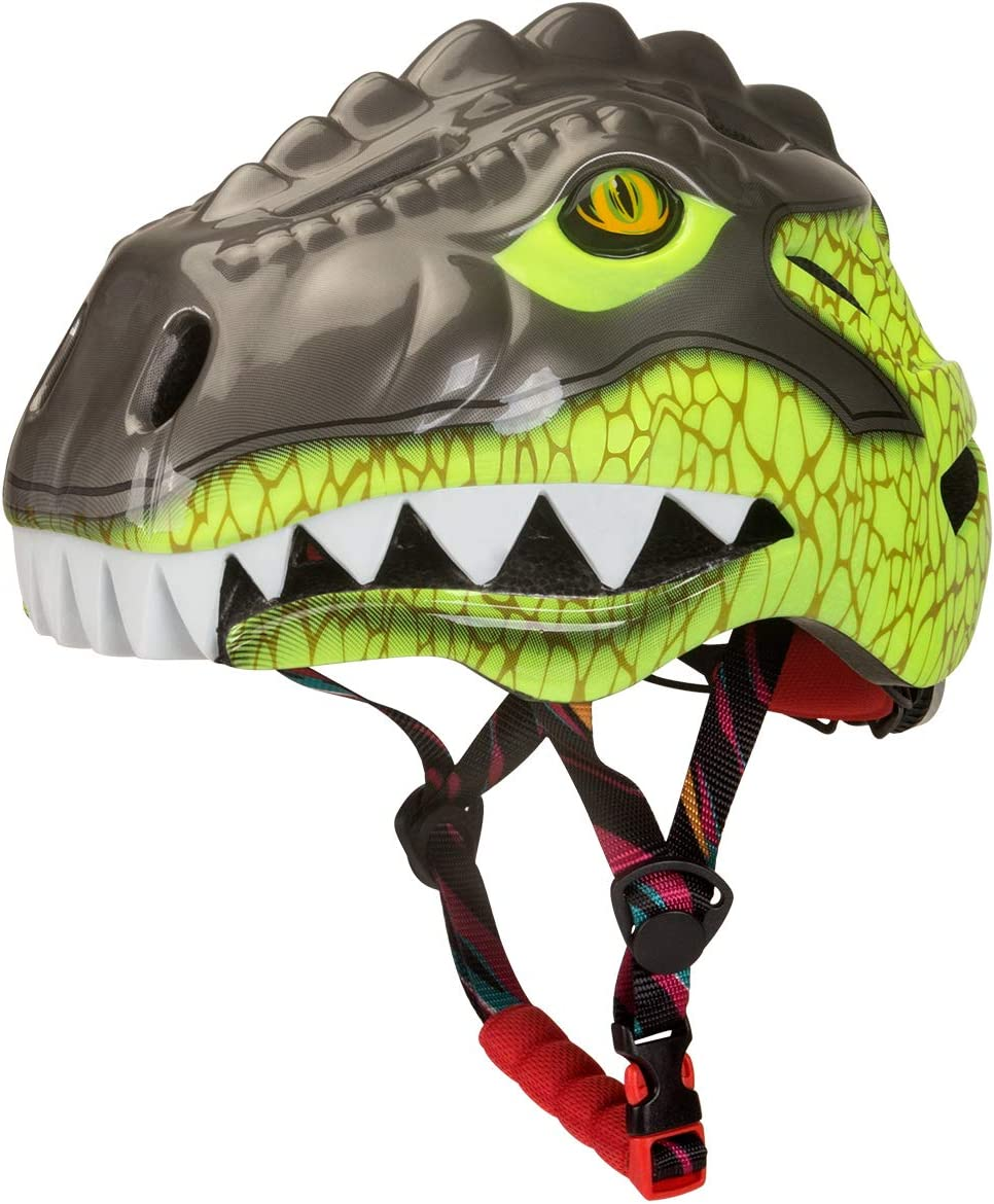 CPSC Certified KINGBIKE Kids 3D Helmet with Colorful Taillight for Age 3-10,Ad