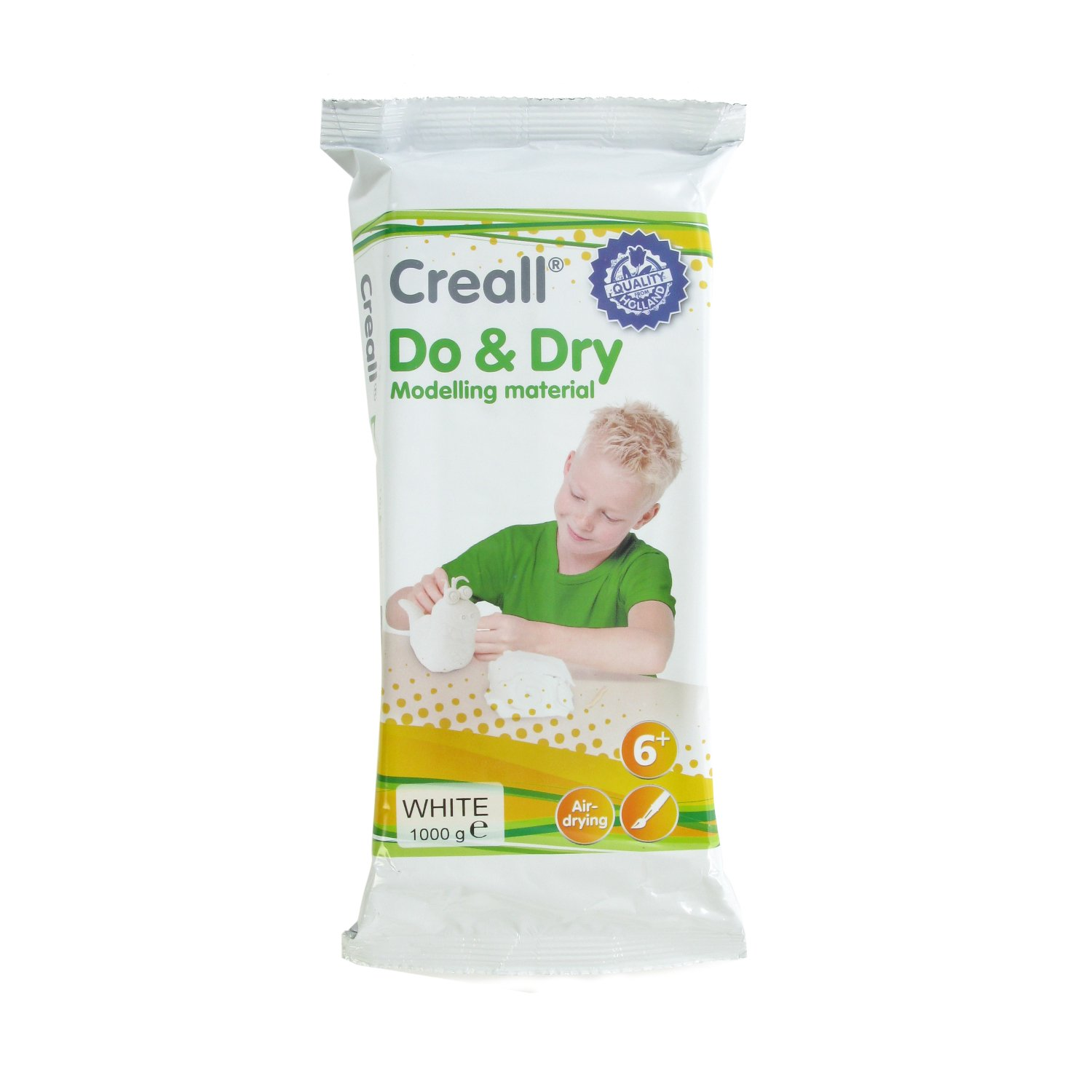 American Educational Products A-26000 Creall Do and Dry Modelling Material, Regular, 1000 g, White