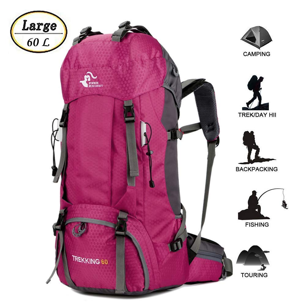 60L Waterproof [並行輸入品] Ultra Lightweight Hiking Backpack Cover,Outdoor with Fishing Rain Cover,Outdoor Sport Daypack Travel Bag for Climbing Camping Touring Mountaineering Fishing (Rose Red) [並行輸入品] B07R3Y6KHV, 【楽天最安値に挑戦】:69be0613 --- anime-portal.club