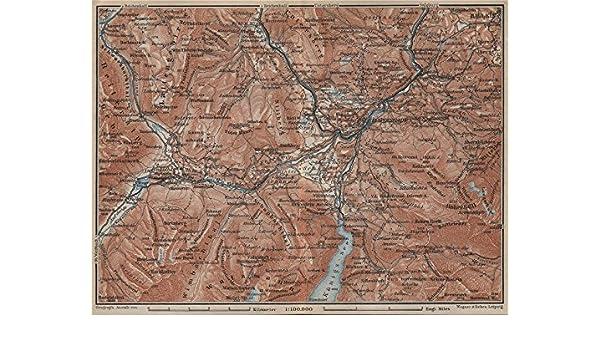 Topographic Map Germany.Amazon Com Berchtesgaden Environs Topo Map Hallein Bayern