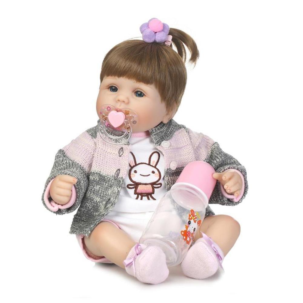 Chinatera赤ちゃんReborn Dolls Lifelike Realistic Siliconeビニール人形幼児幼児用寝具のBath Toyギフトセット( Bernadette )   B07BSFBTF8