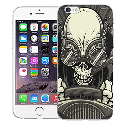 """Mobile Case Mate iPhone 6 Plus 5.5"""" Silicone Coque couverture case cover Pare-chocs + STYLET - Driving Skull pattern (SILICON)"""