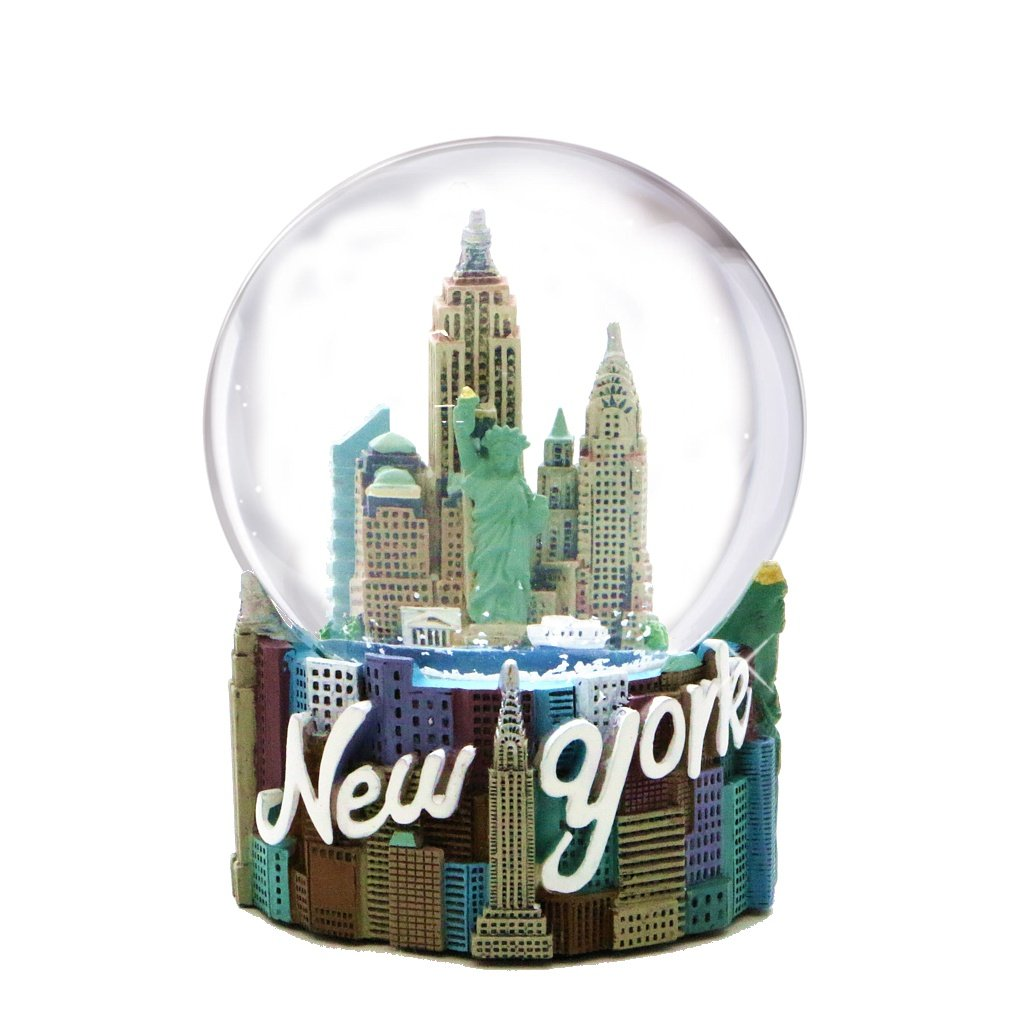Skyline New York City Snow Globe Souvenir Figurine 80mm from NYC Snow Globes Collection