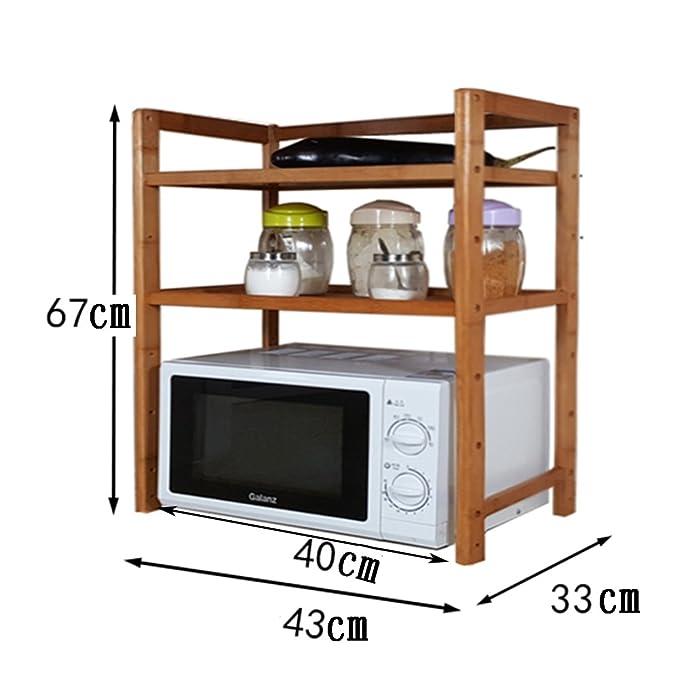 Estante de cocina de microondas Estante de cocina, estante del ...