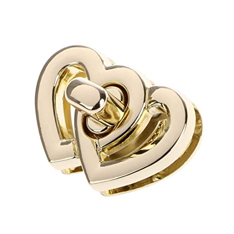SimpleLife Forma de corazón de Metal Gire la Bolsa de ...