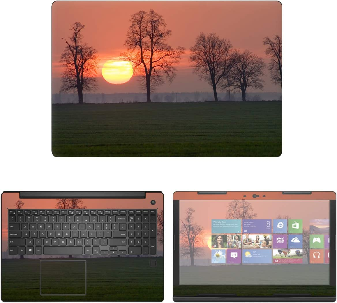 decalrus - Protective Decal Sunset Skin Sticker for Dell Latitude 15 3590 (15.6